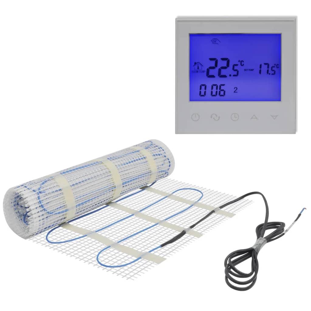 Golvvärmematta 10m 160 W/m med digital touch-screen termostat (141293 + 141337)