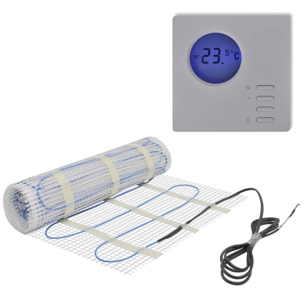 10 m Golvvärmematta 200 W/m med digital termostat (141298 + 141335)
