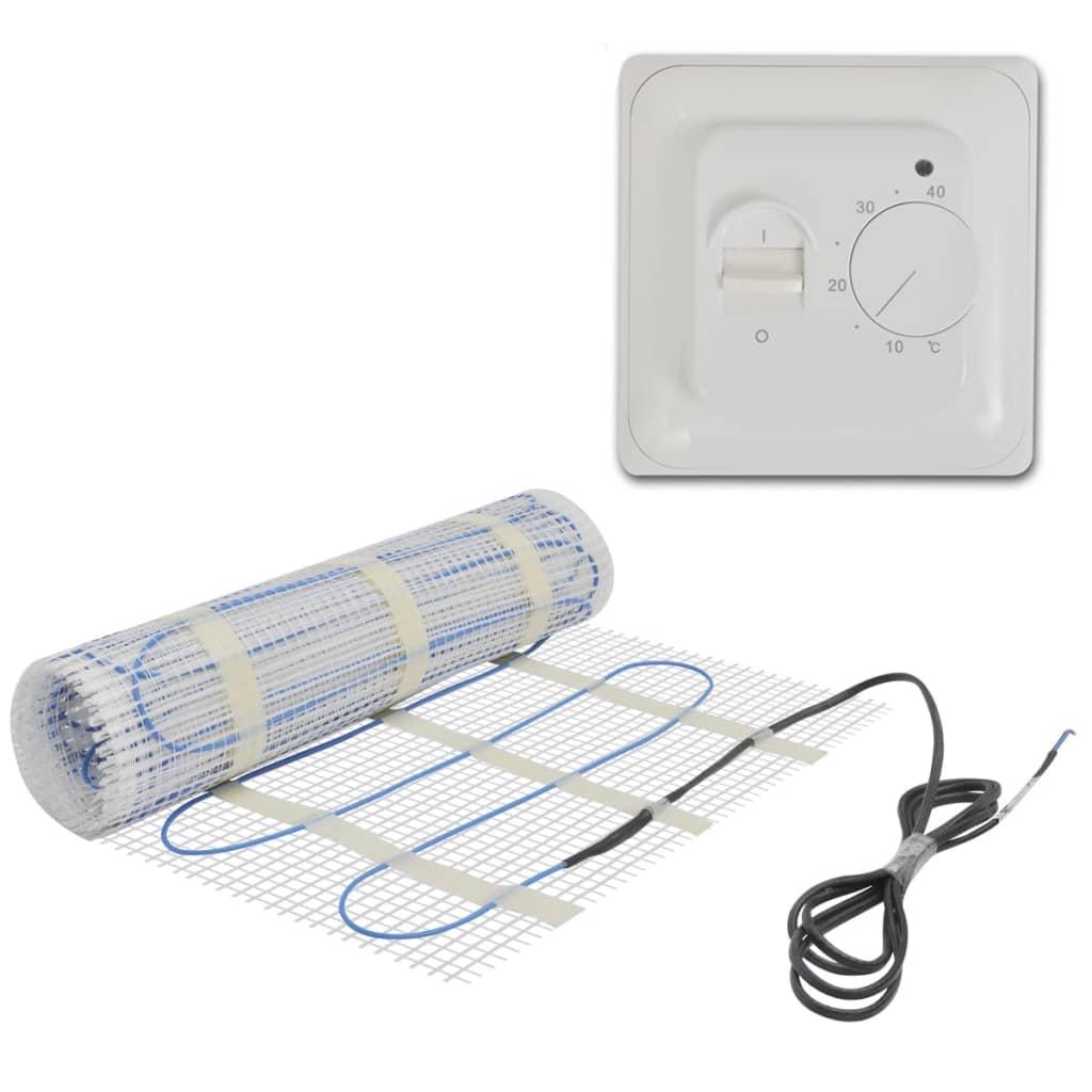 10 m Golvvärmematta 200 W/m med termostat (141298 + 141339)