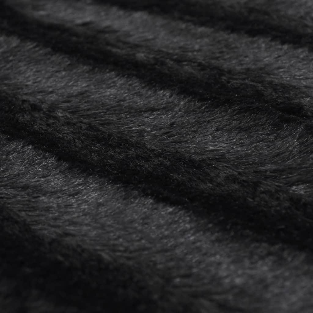der kuscheldecke aus kunstfell mit zwei kissen schwarz online shop. Black Bedroom Furniture Sets. Home Design Ideas
