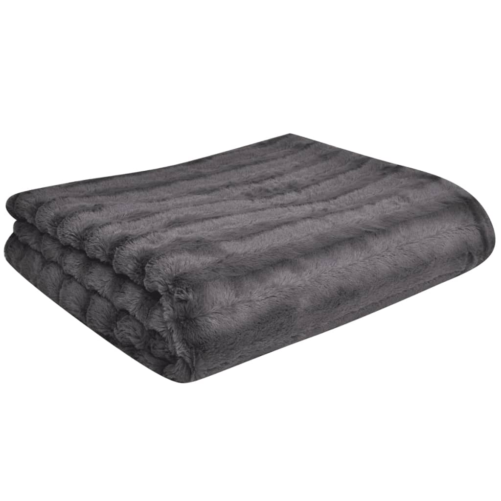 kuscheldecke aus kunstfell mit zwei kissen grau g nstig kaufen. Black Bedroom Furniture Sets. Home Design Ideas