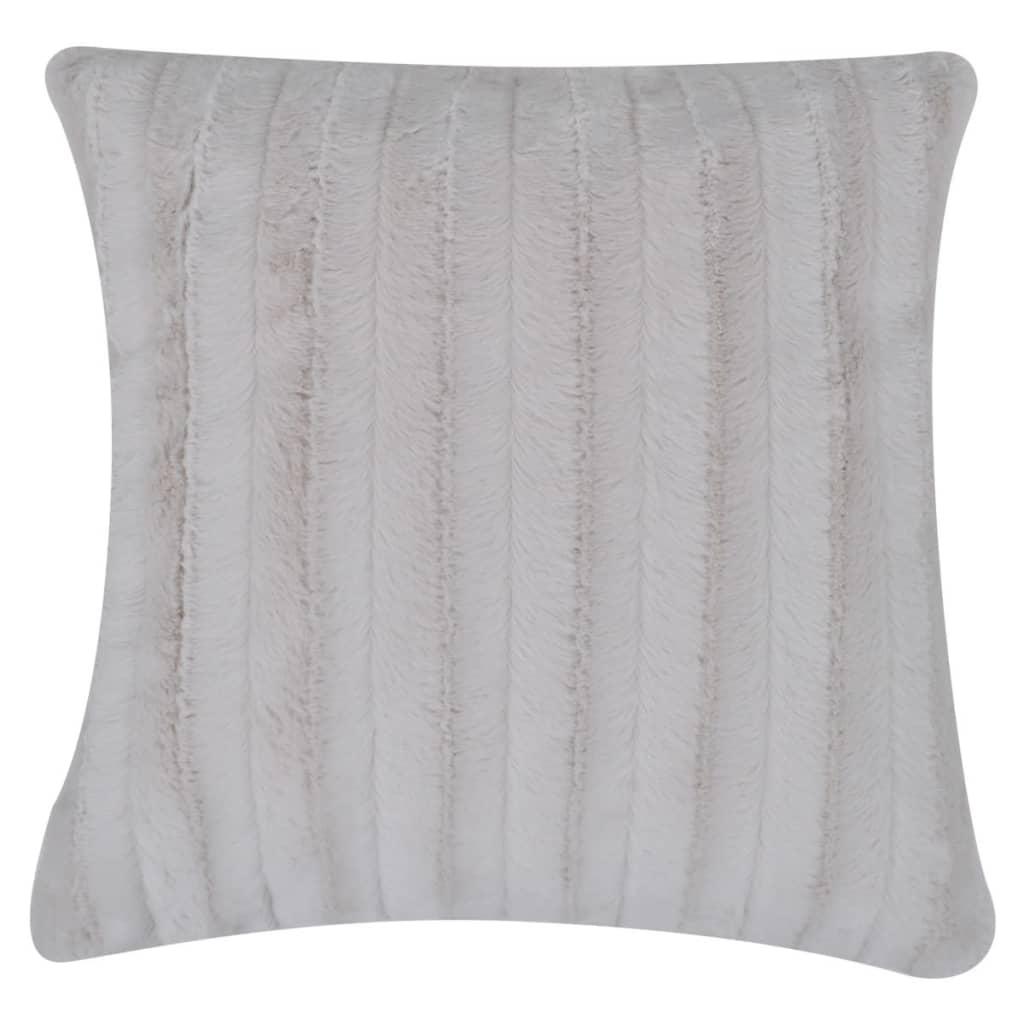 kuscheldecke aus kunstfell mit zwei kissen beige g nstig kaufen. Black Bedroom Furniture Sets. Home Design Ideas