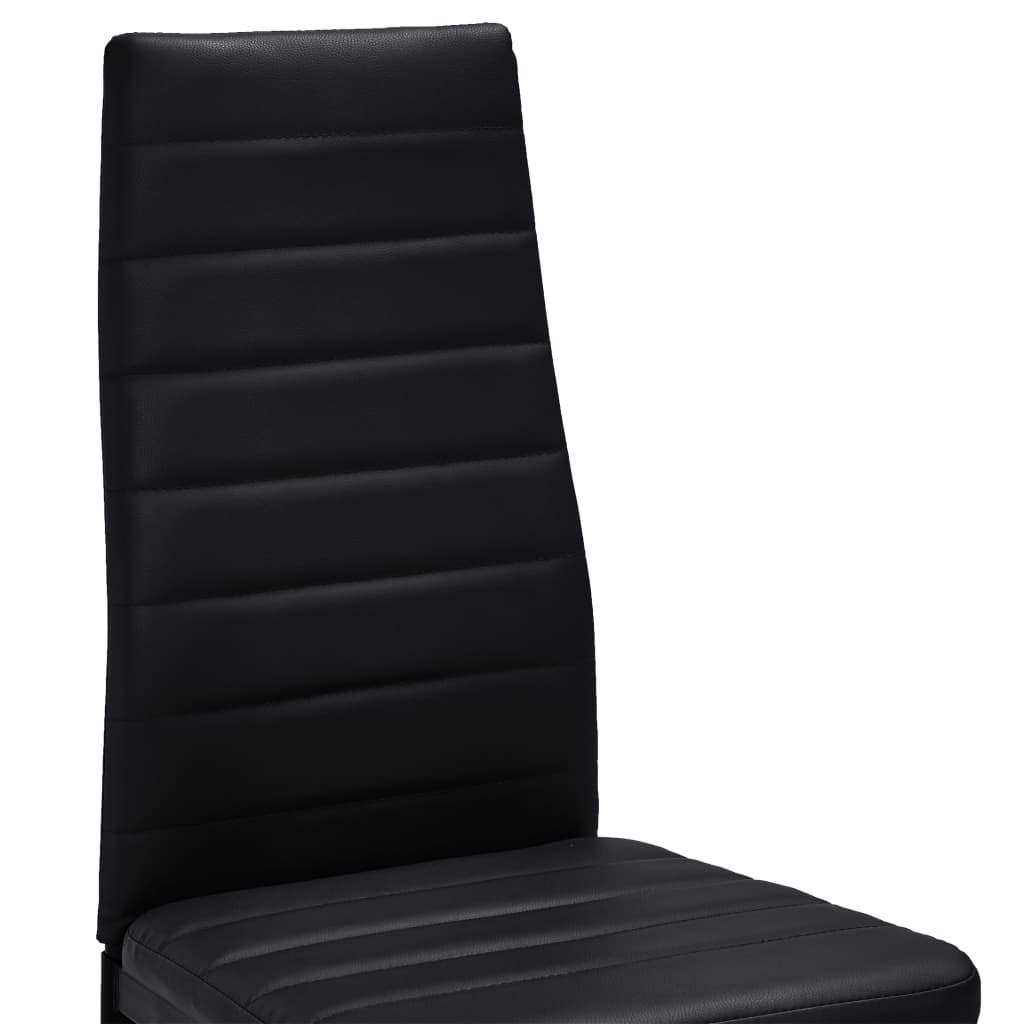 acheter 6 pcs chaise salle manger noir ligne slim pas. Black Bedroom Furniture Sets. Home Design Ideas