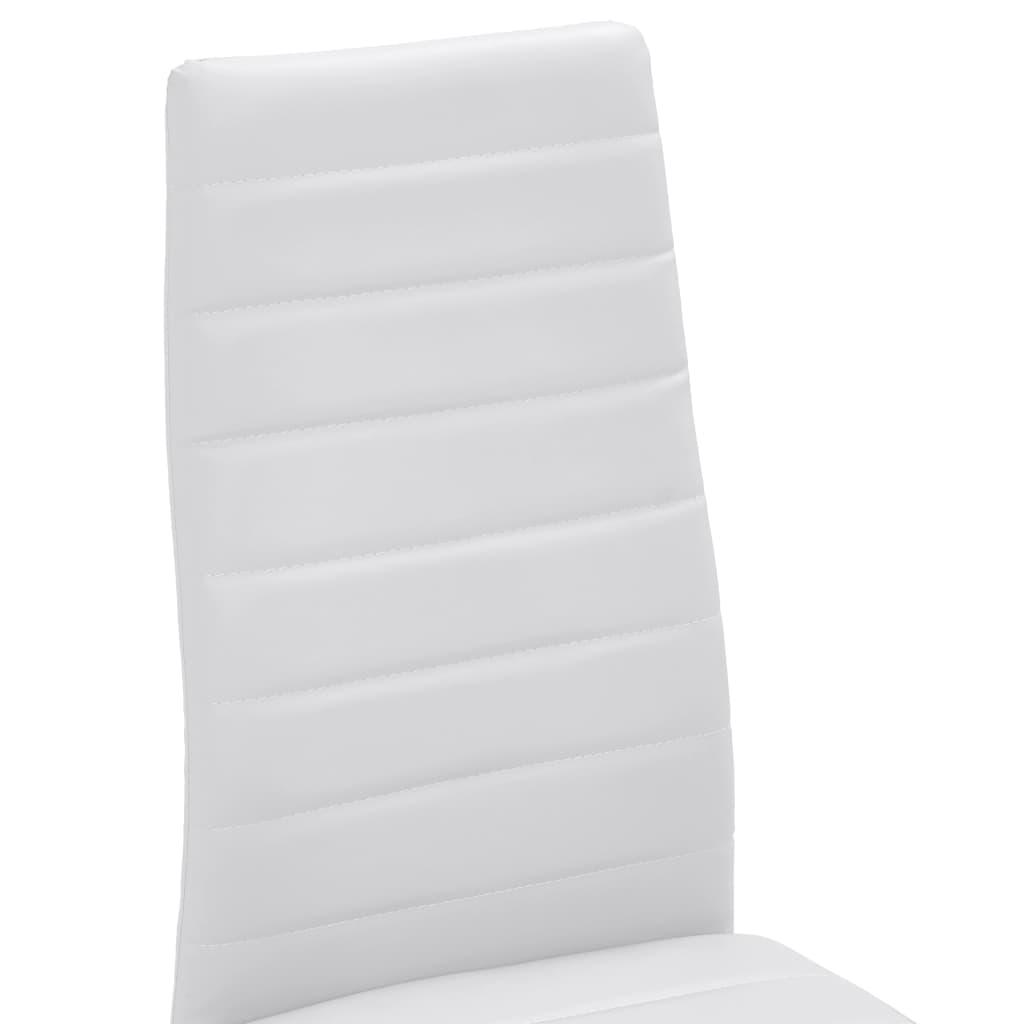 Acheter 6 pcs chaise salle manger blanc ligne slim pas for Soldes chaises salle a manger
