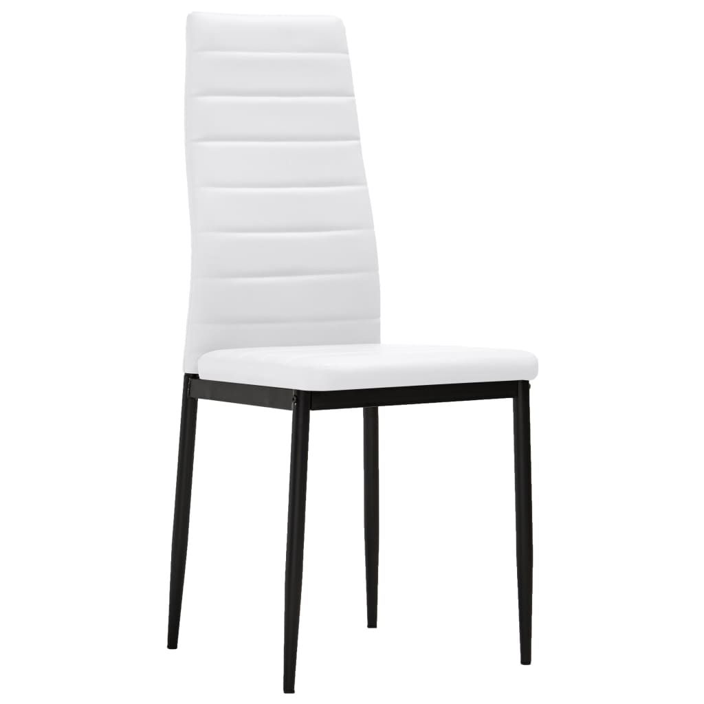 la boutique en ligne 6 pcs chaise salle manger blanc ligne slim. Black Bedroom Furniture Sets. Home Design Ideas
