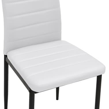 Cadeiras de jantar elegantes, 6 peças, em branco[7/8]