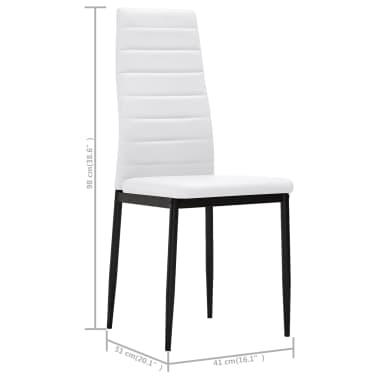 Cadeiras de jantar elegantes, 6 peças, em branco[8/8]