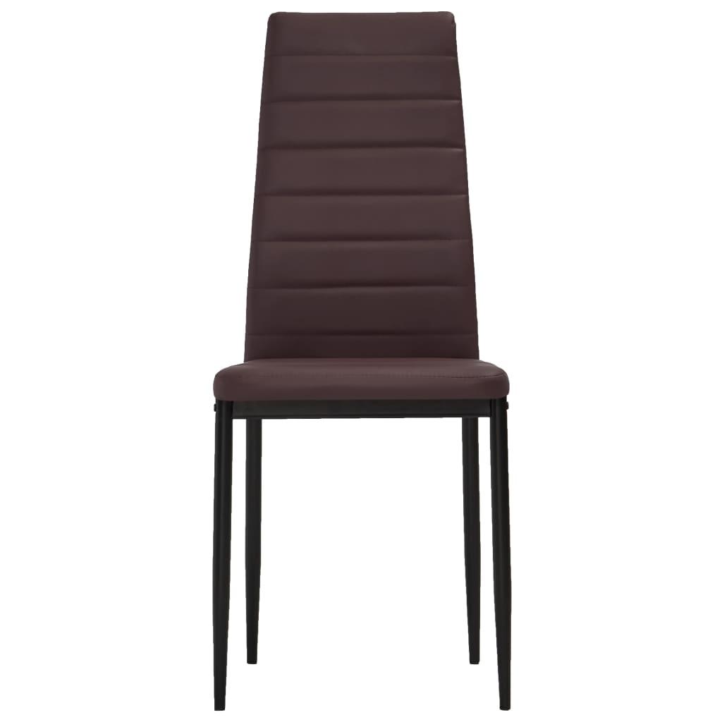 der esszimmerstuhl schlankes design braun 6 st ck online shop. Black Bedroom Furniture Sets. Home Design Ideas