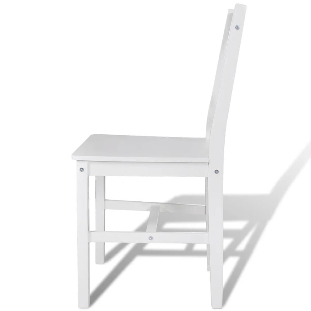 La boutique en ligne 6 pcs chaise salle manger en bois blanc - Chaise salle a manger blanc ...