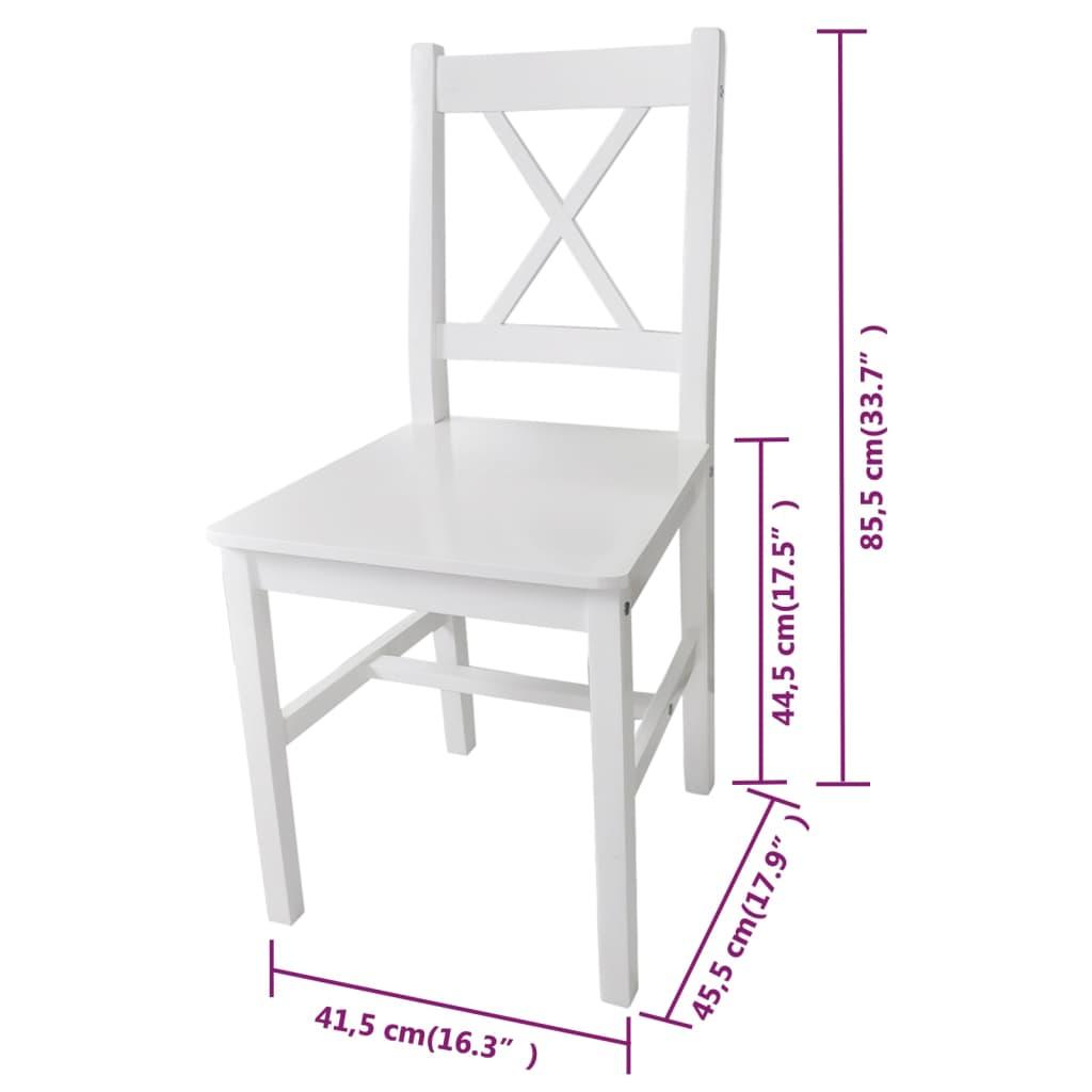 La boutique en ligne 6 pcs chaise salle manger en bois for Salle a manger en bois blanc