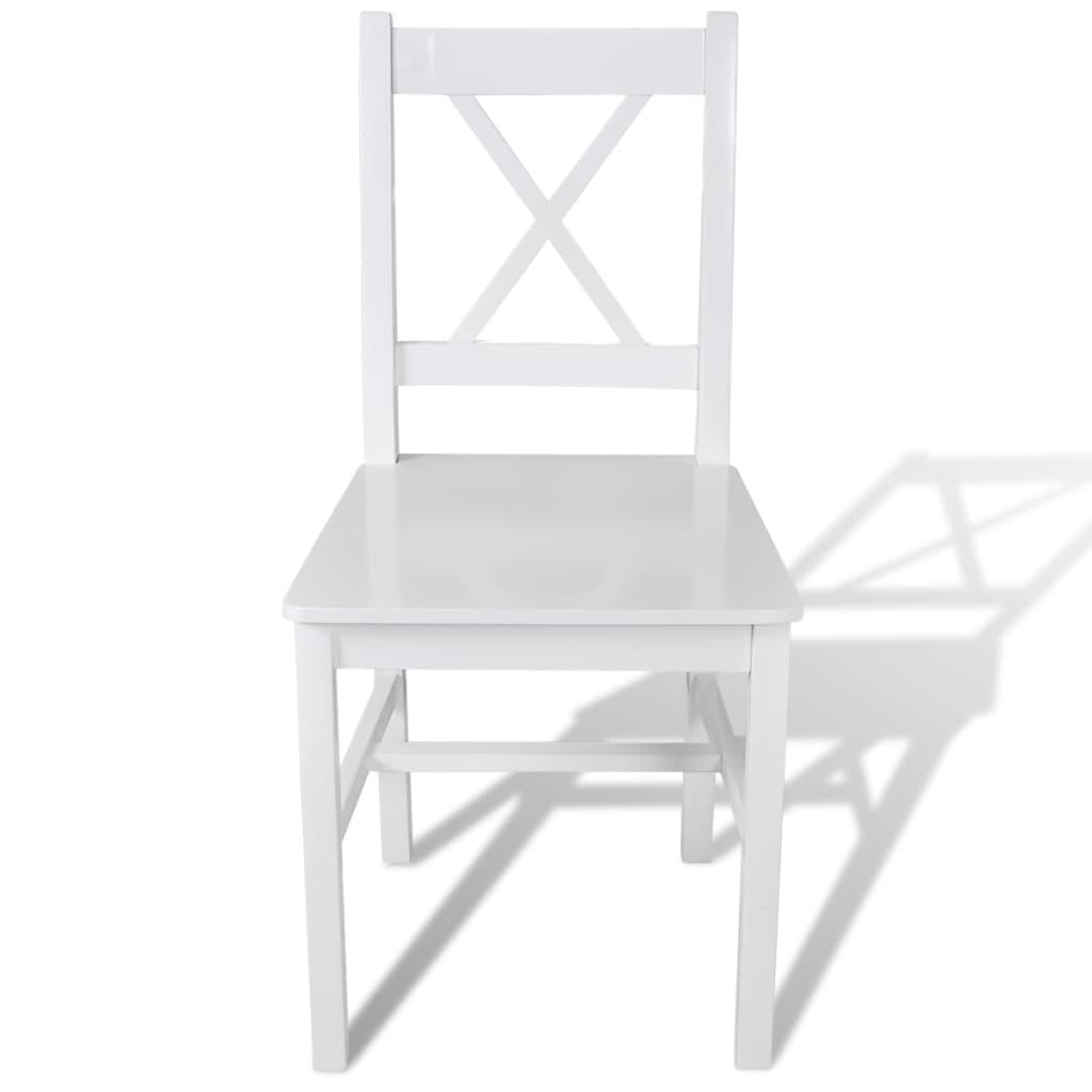 La boutique en ligne 6 pcs chaise salle manger en bois for Chaise bois blanc salle manger