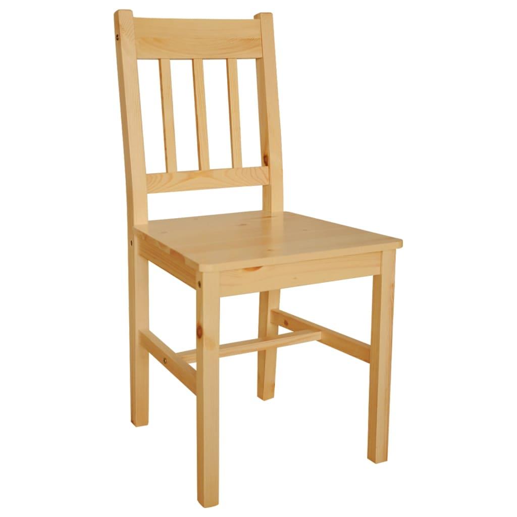 Acheter 6 pcs chaise salle manger en bois naturel pas for Salle a manger en solde