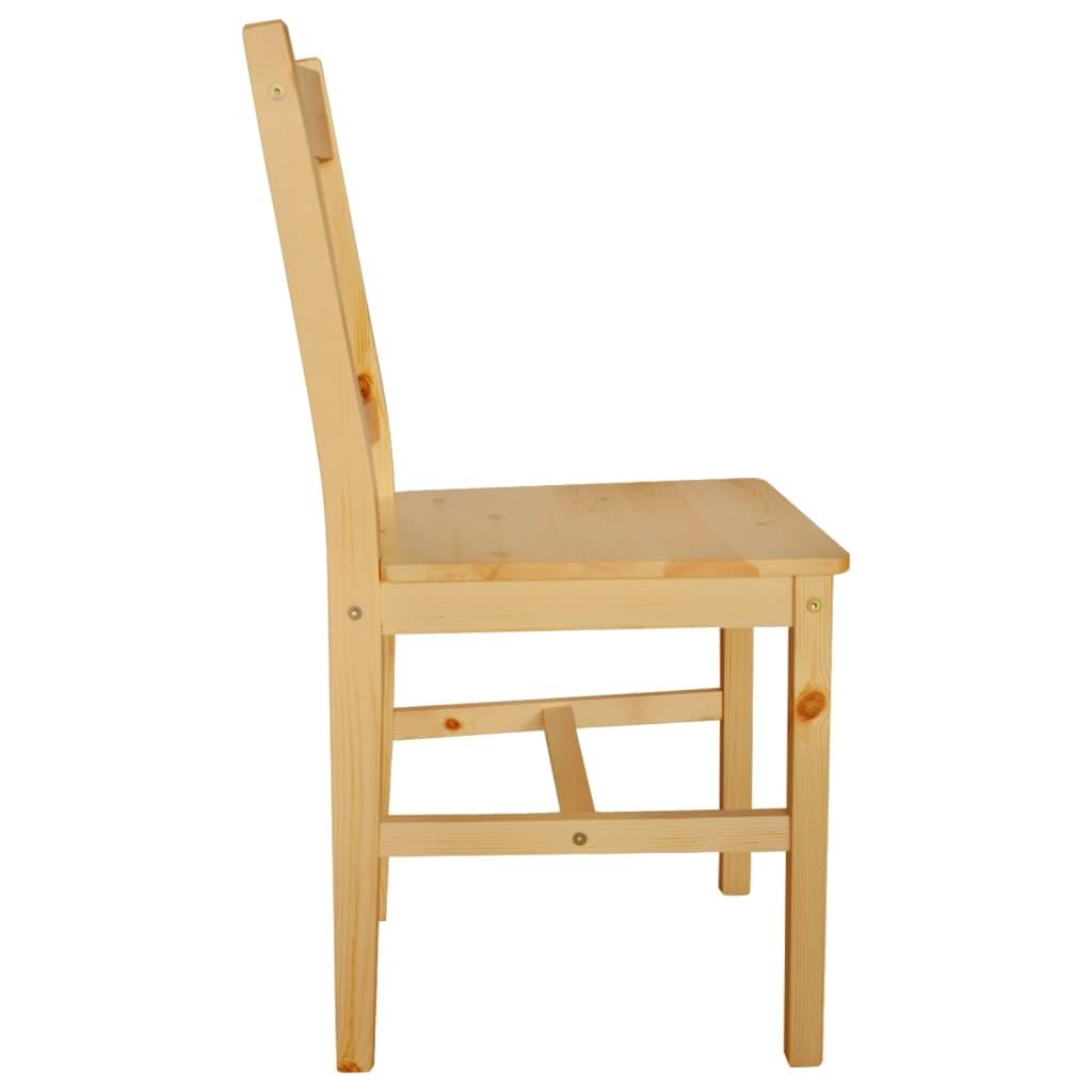 Acheter 6 pcs chaise salle manger en bois naturel pas for 6 chaise salle a manger