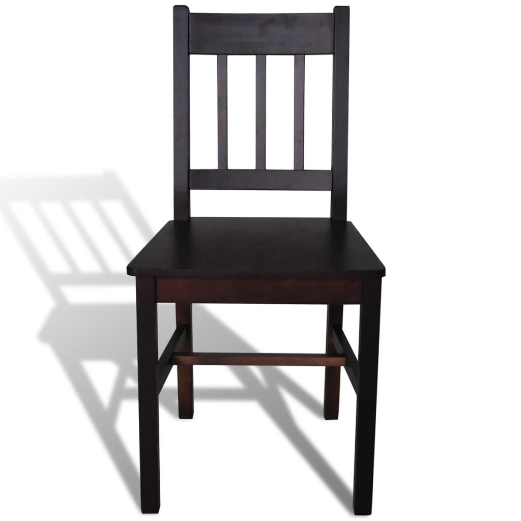 Acheter 6 pcs chaise salle manger en bois brun pas cher for Chaise bois salle a manger