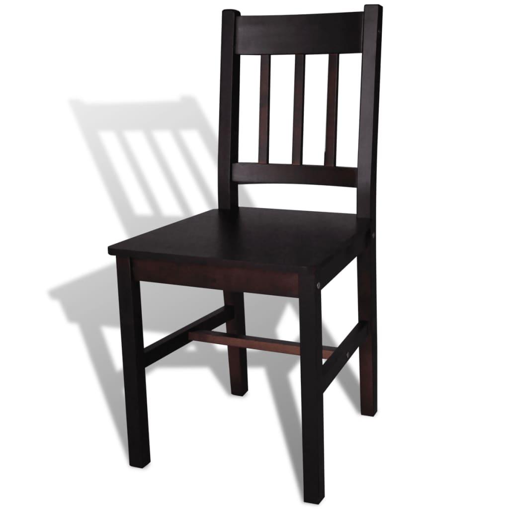 Silla de comedor de madera de pino 6 unidades color for Catalogo de sillas para comedor de madera