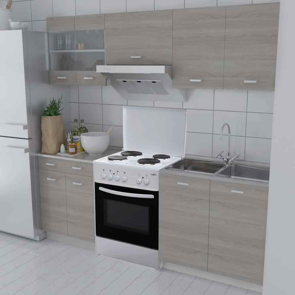 Acheter bloc armoires de cuisine couleur ch ne 5 pcs avec for Armoires de cuisine action