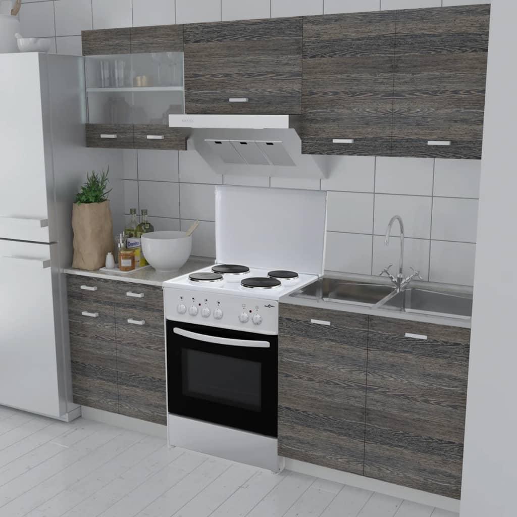 Köksskåp wenge-design set med fristående ugn 5-delar (241393 + 50343)
