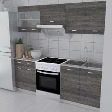 acheter bloc armoires de cuisine en weng 5 pcs avec four autoportant pas cher. Black Bedroom Furniture Sets. Home Design Ideas