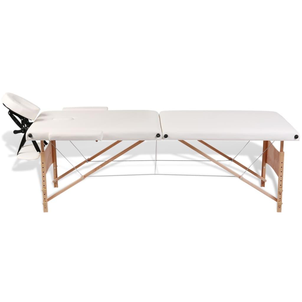 Mesa plegable de masajes 2 cuerpos y accesorios madera for Mesa plegable 3 cuerpos
