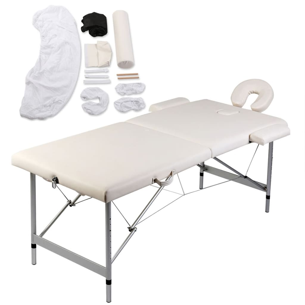 Acheter table de massage pliante 2 zones cr me aluminium - Table de massage pliante aluminium pas cher ...
