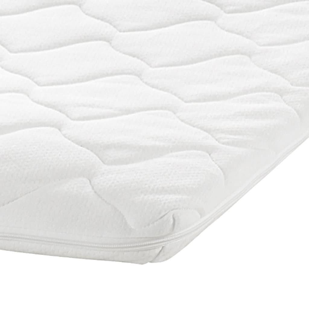 La boutique en ligne lit en m tal blanc matelas en Surmatelas mousse viscoelastique