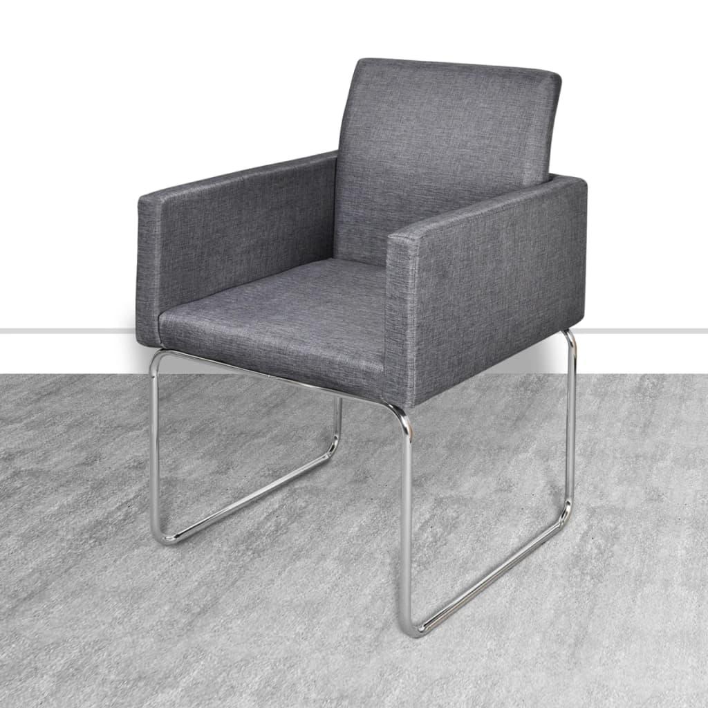 silla de comedor con apoyabrazos 4 unidades grises On sillas con apoyabrazos para comedor