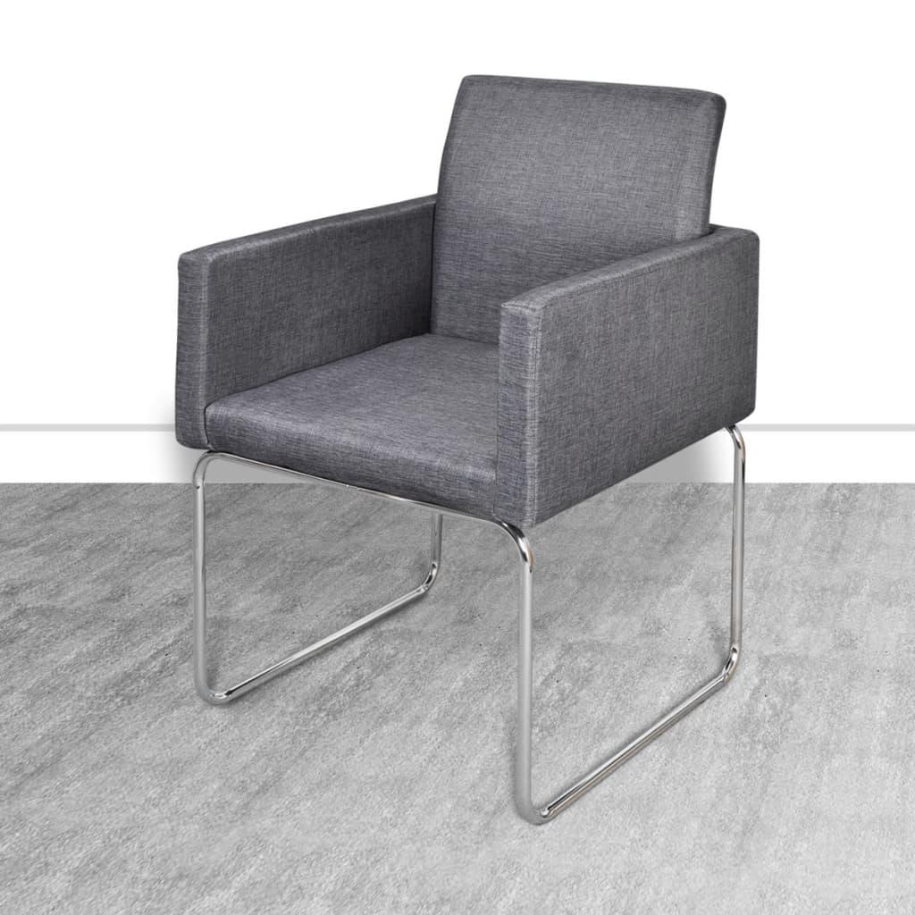 vidaXL-Set-6-Sedie-da-tavola-soggiorno-sala-da-pranzo-grigio-scuro-con-braccioli