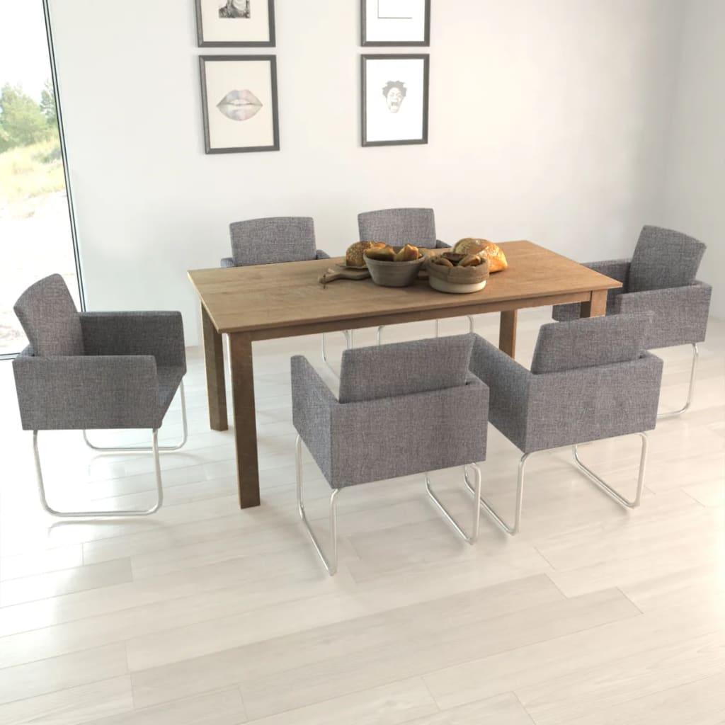 Articoli per 6 sedie da cucina pranzo grigio scuro con braccioli - Cucina grigio scuro ...