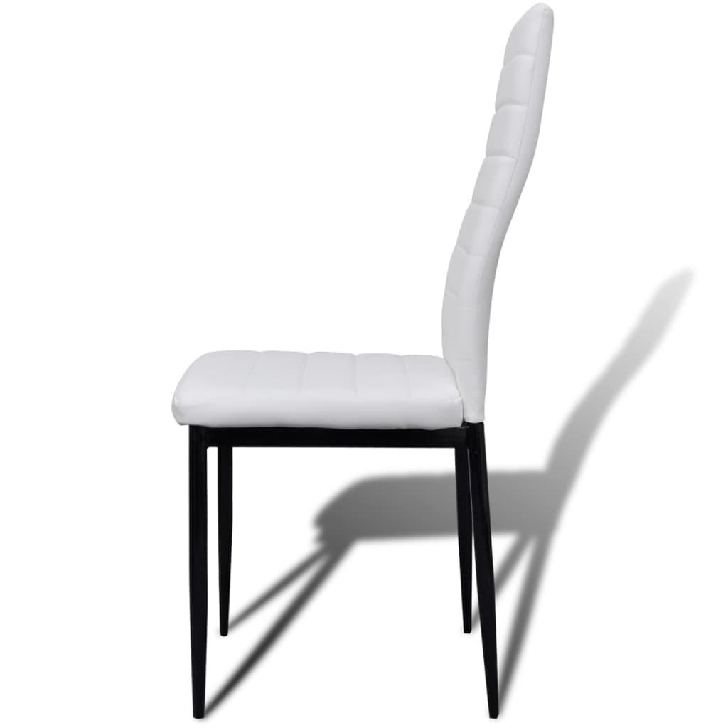 La boutique en ligne lot de 4 chaises blanches aux lignes fines avec une tabl - Lot 4 chaises blanches ...