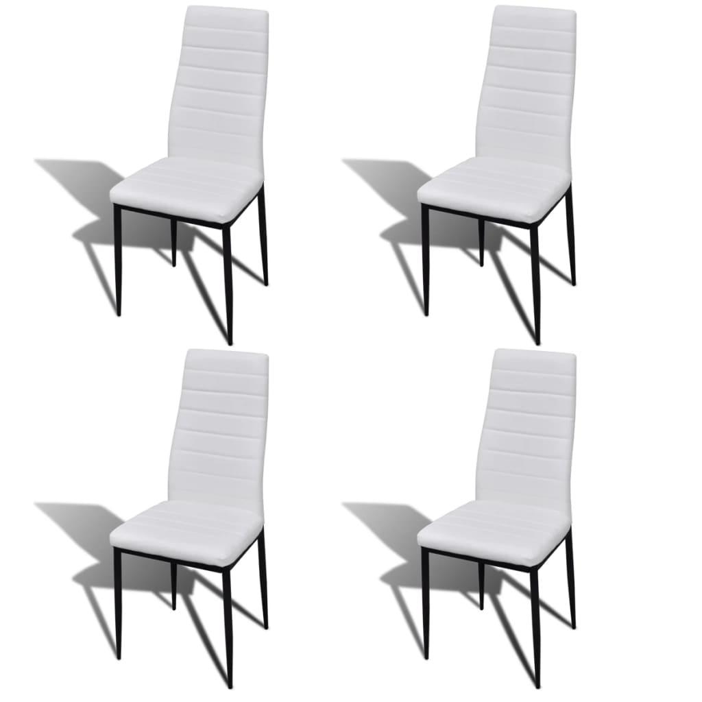 Sillas blancas modernas trendy ms de ideas increbles for Sillas polipiel blancas