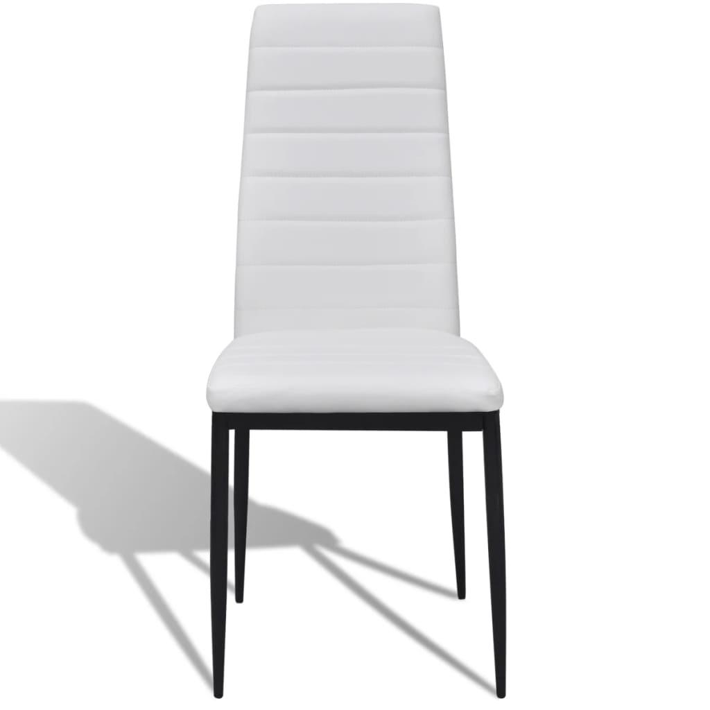 La boutique en ligne lot de 6 chaises blanches aux lignes - Lot de 6 chaises blanches ...
