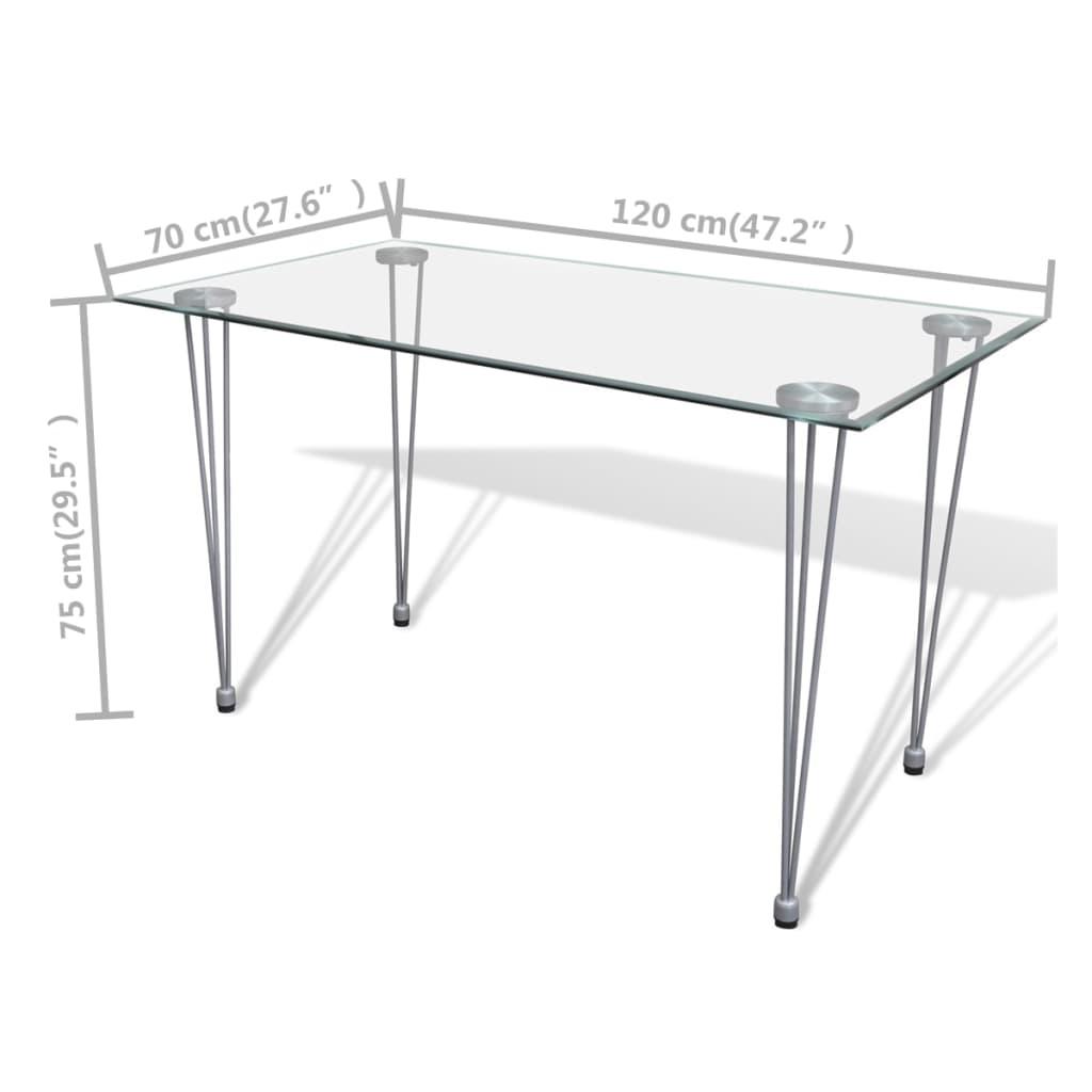 De eetkamerset 4 bruine slim line stoelen en 1 glazen tafel online shop - Glazen tafel gesmeed ijzer en stoelen ...