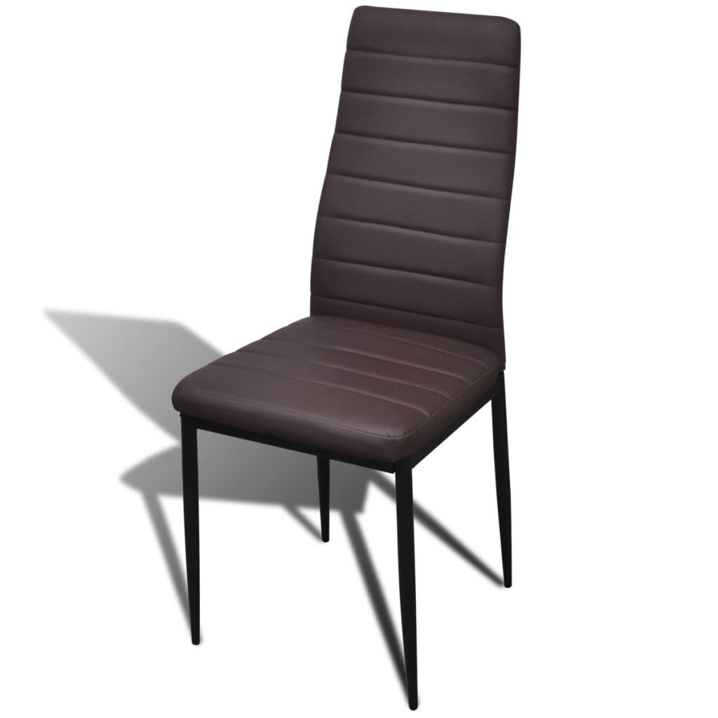 Articoli per set 4 sedie da tavola marrone linea sottile for Sedie da tavolo
