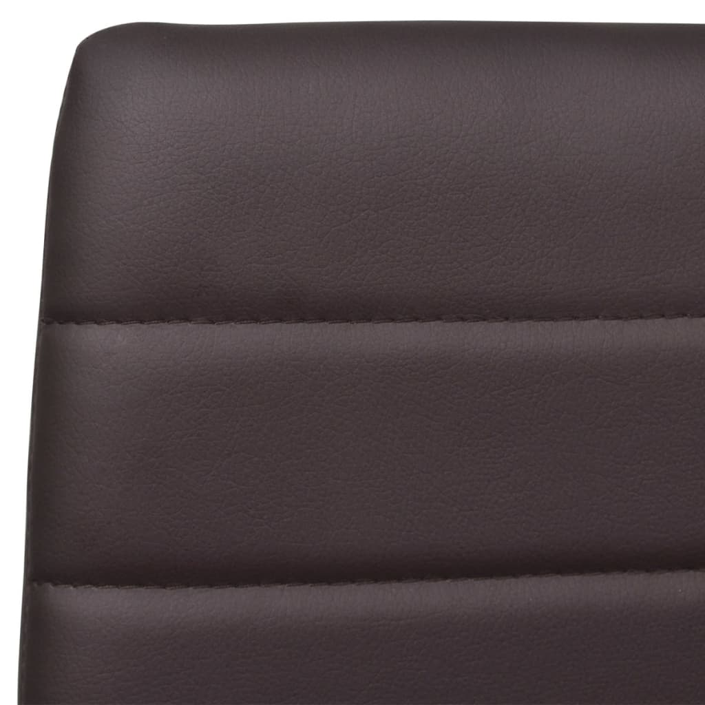 Eetkamerset 6 bruine slim line stoelen en 1 glazen tafel - Stoelen voor glazen tafel ...