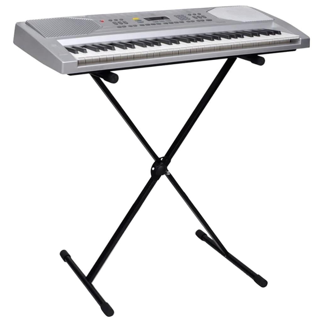 Afbeelding van vidaXL Elektrisch keyboard 61 toetsen met muziek- en keyboardstandaard