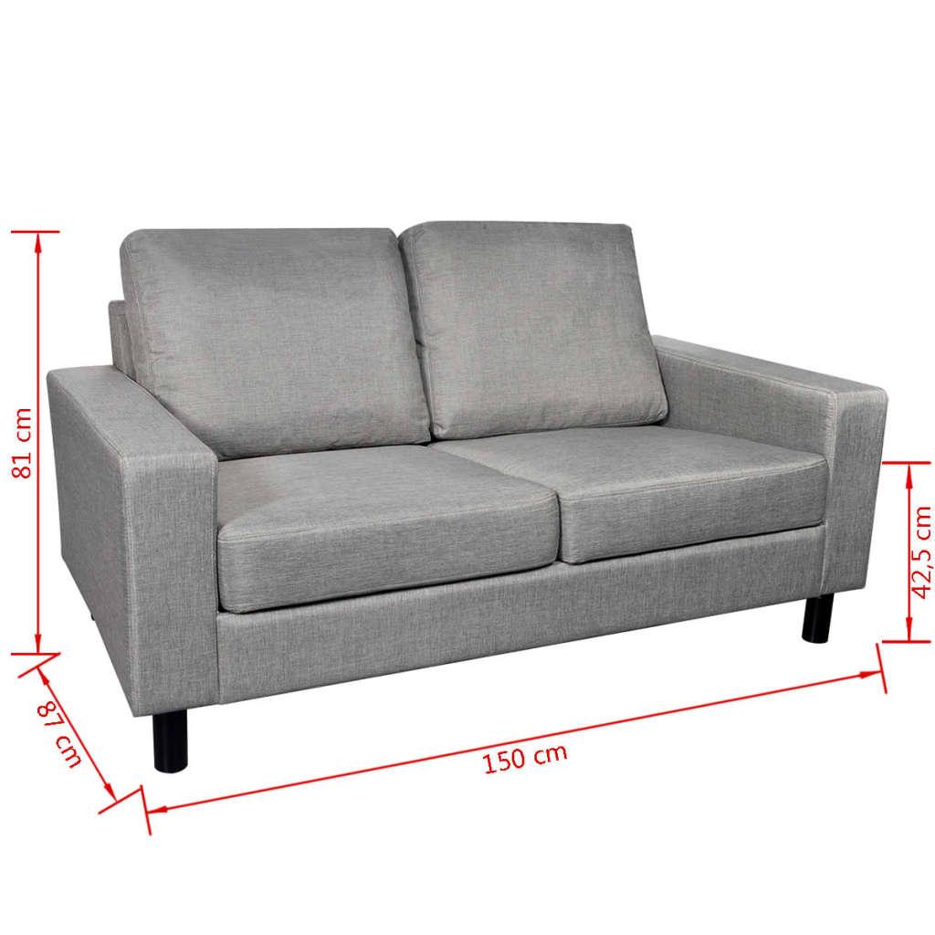 Vidaxl ensemble canap gris clair 2 places et 3 places for Ensemble mobilier salon