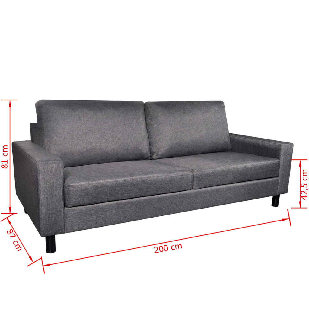 acheter ensemble canap gris fonc 2 places et 3 places pas cher. Black Bedroom Furniture Sets. Home Design Ideas
