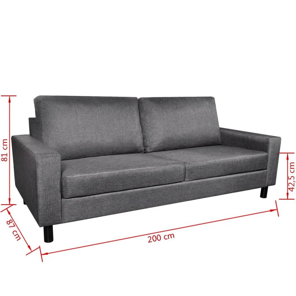 sofa set 2 sitzer und 3 sitzer dunkelgrau. Black Bedroom Furniture Sets. Home Design Ideas