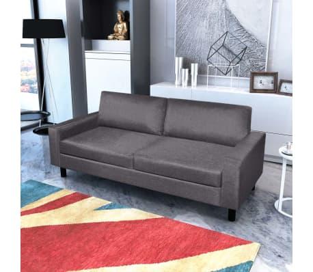 sofa set 2 sitzer und 3 sitzer dunkelgrau im vidaxl. Black Bedroom Furniture Sets. Home Design Ideas