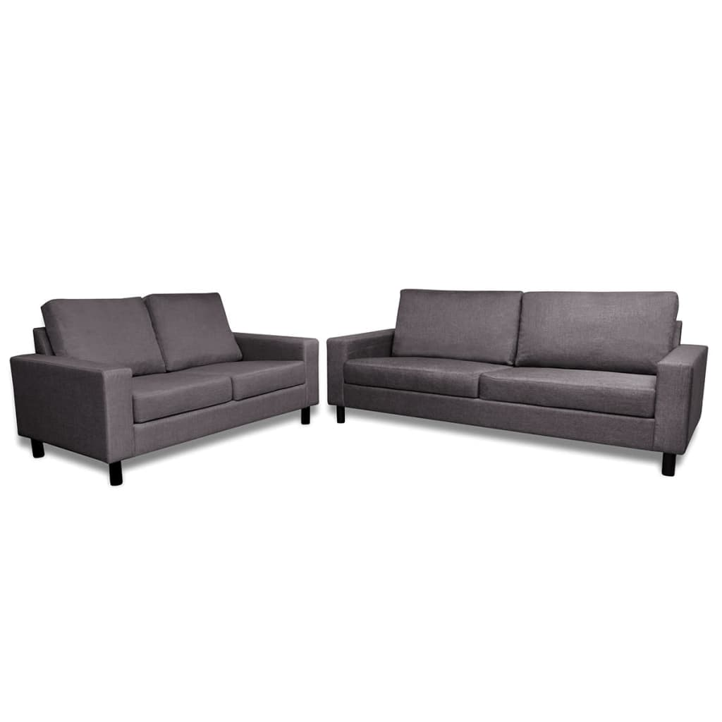 sofa set 2 sitzer und 3 sitzer dunkelgrau g nstig kaufen. Black Bedroom Furniture Sets. Home Design Ideas