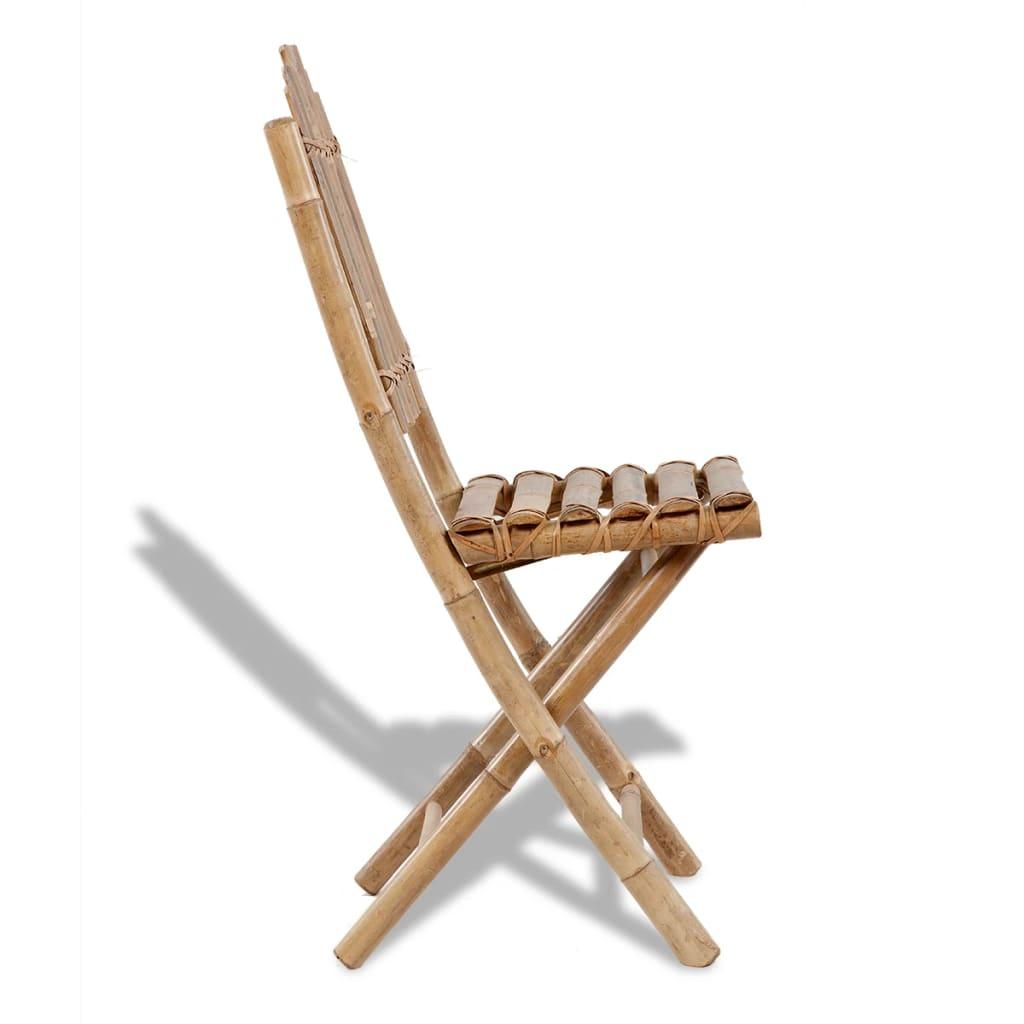 Set 4 sillas plegables de bamb - Sillas de bambu ...