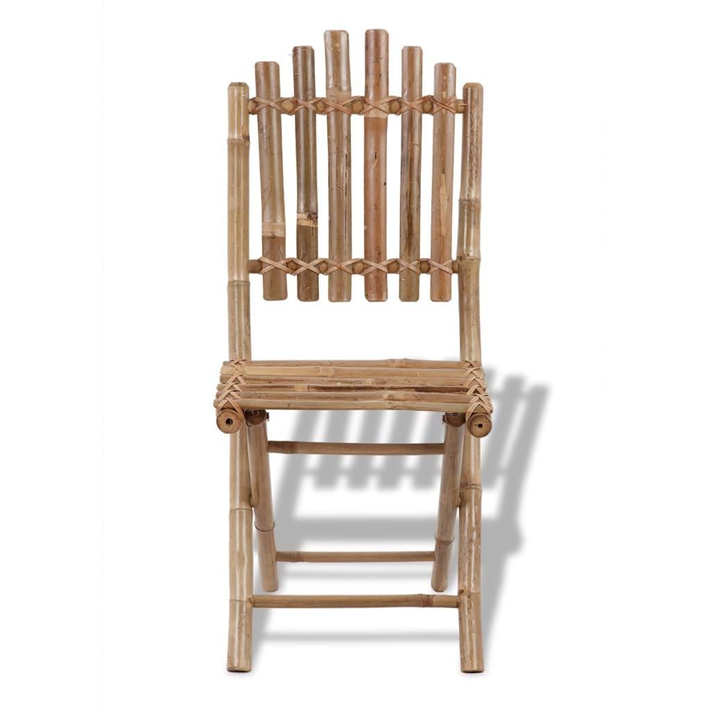 Acheter 4 chaises pliables en bambou pas cher for Chaises pliables