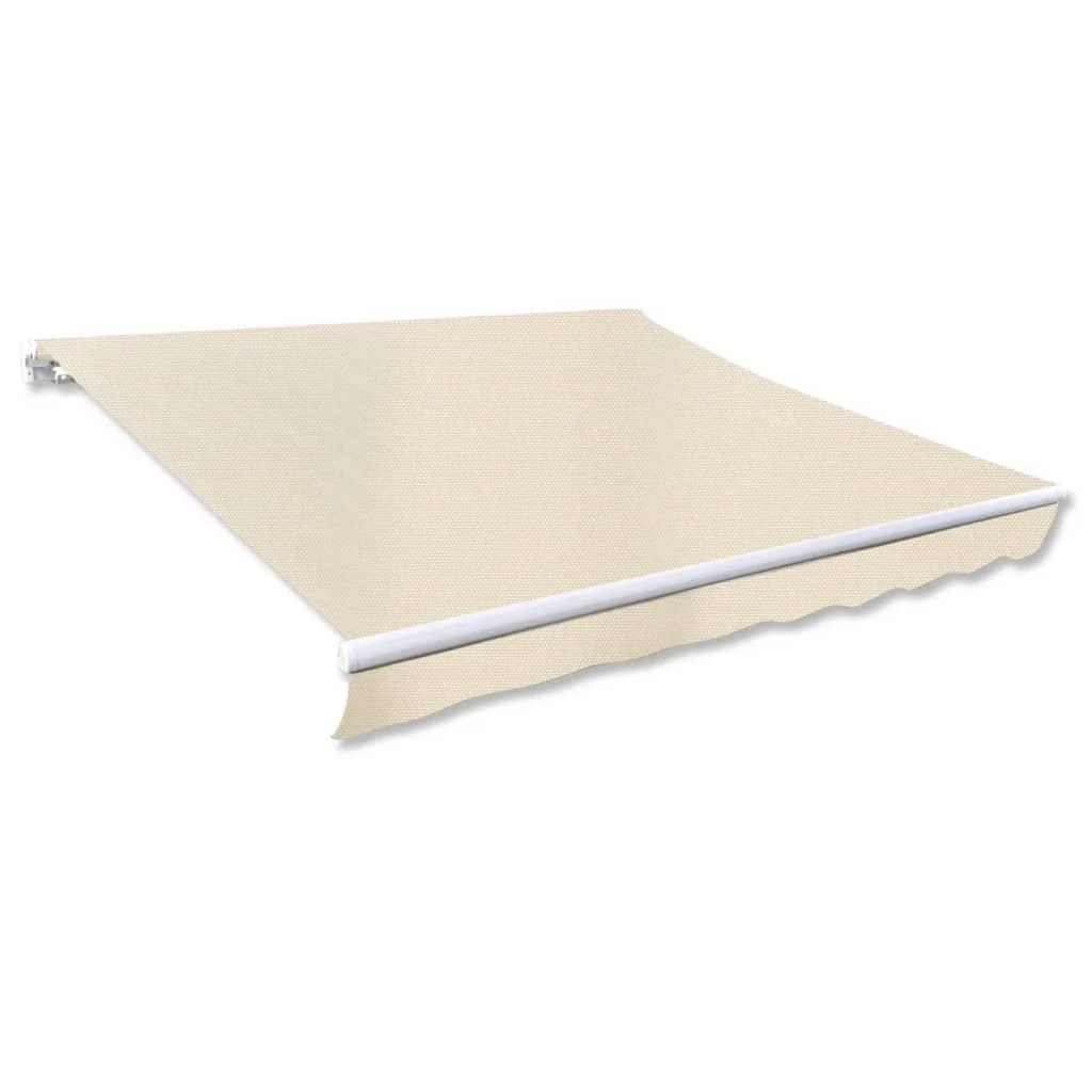 vidaXL Összecsukható Napellenző 300 x 250 cm Krém