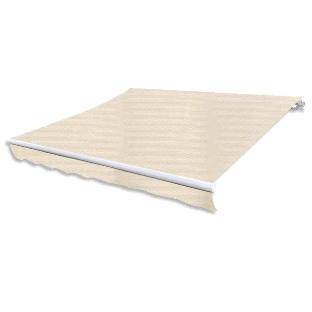 vidaXL feltekerhető napellenző, krémszínű, 600 cm
