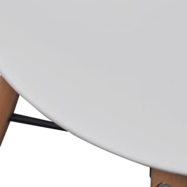Hvid spisestue sæt 1 firkantet bord med 2 armless stole (241302   ...