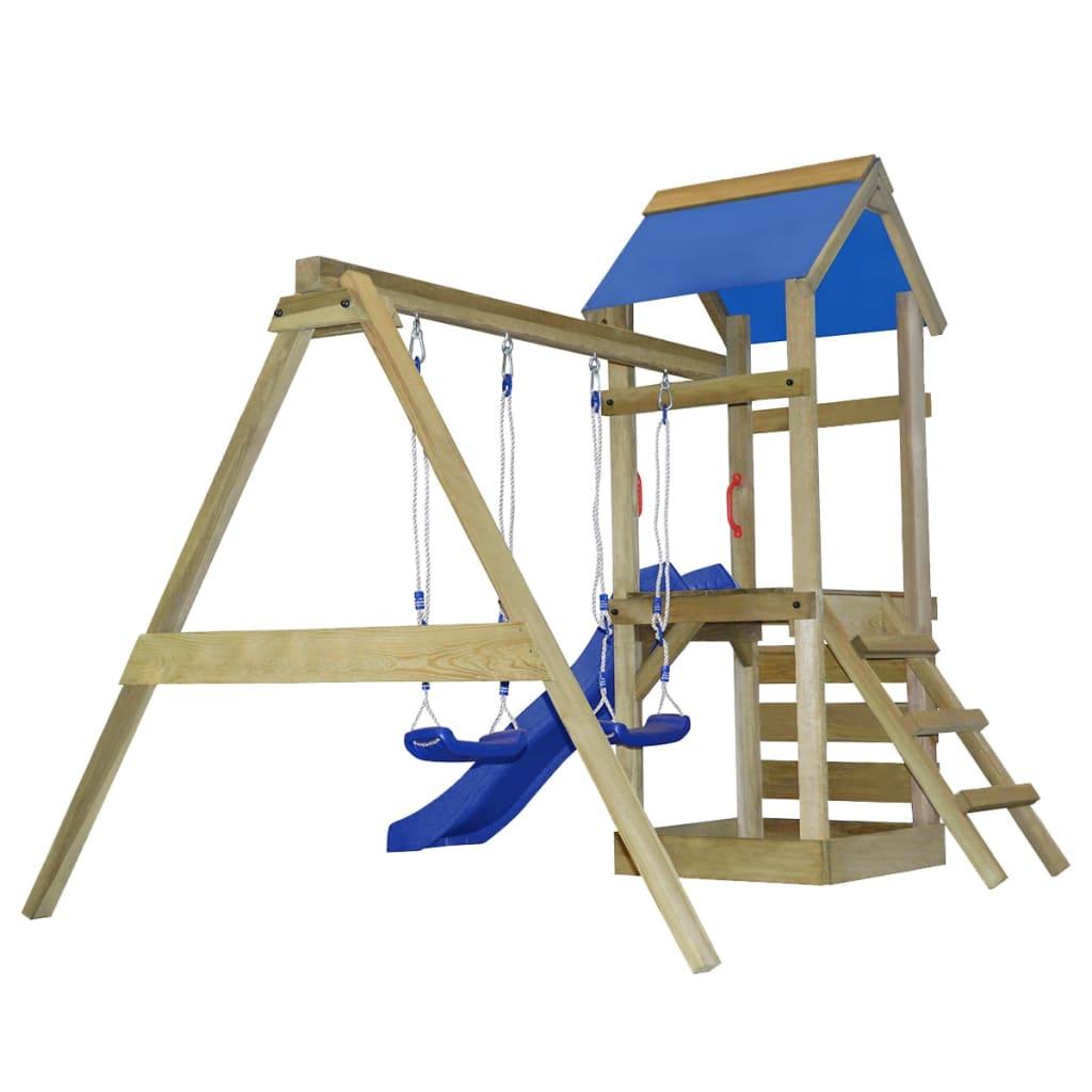 acheter portique de jeu en bois avec chelle toboggan et. Black Bedroom Furniture Sets. Home Design Ideas