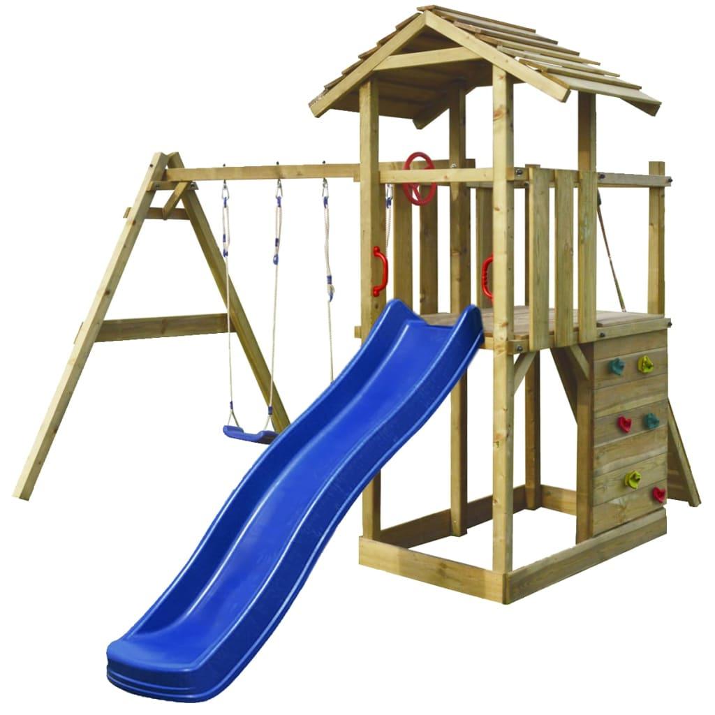 Einzigartig Der Spielturm aus Holz mit Leiter, Rutsche und Schaukel online  GV41