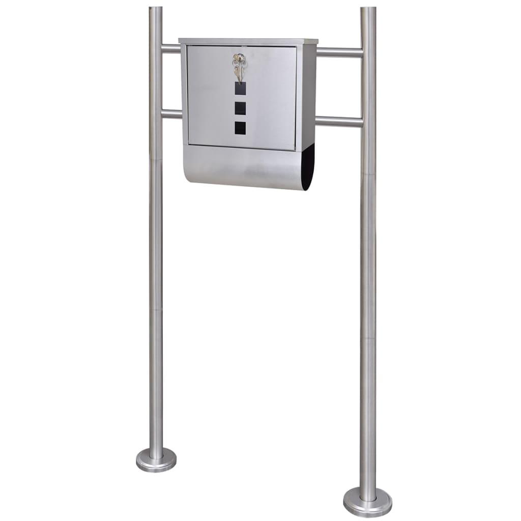 Brevlåda på stativ i rostfritt stål (50350+50354)