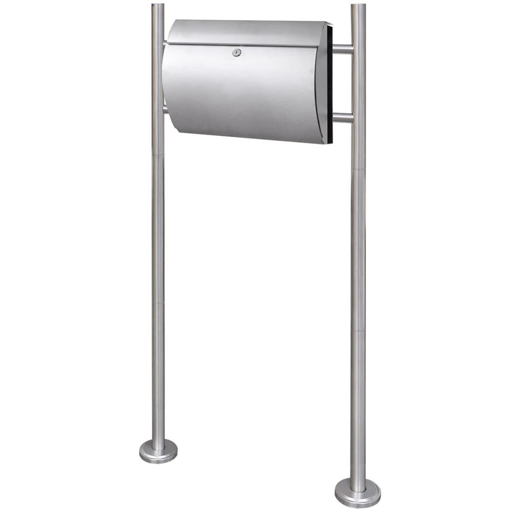 Brevlåda på stativ i rostfritt stål (50352+50354)