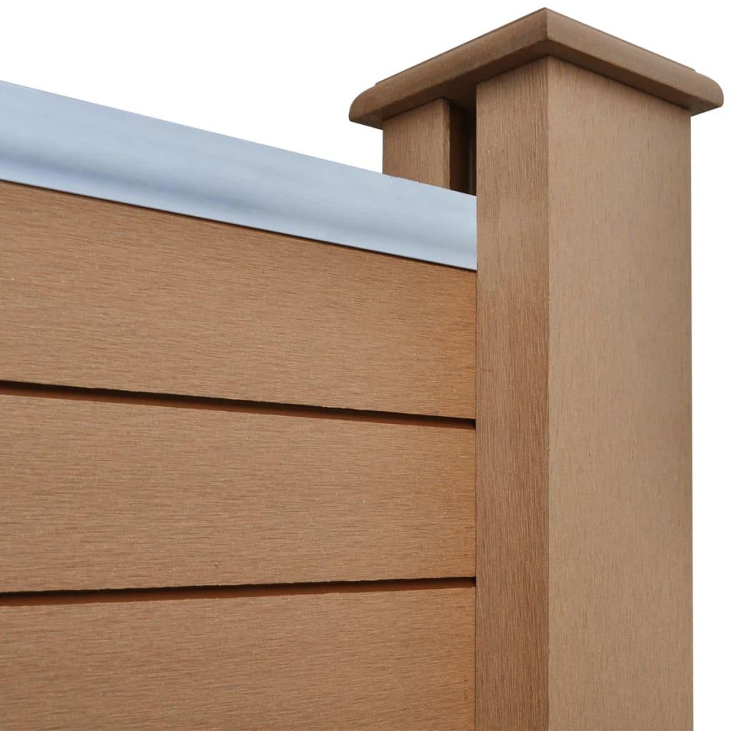 panneau carr de cl ture de jardin wpc 2 pcs. Black Bedroom Furniture Sets. Home Design Ideas